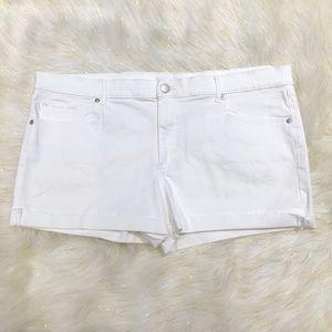 Loft White Jean Shorts 34/18P NWT